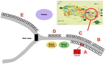 Jardin d'Acclimatation - Jardin Japonais Plan Chajin