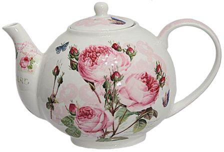 Théière Porcelaine Postcard Roses