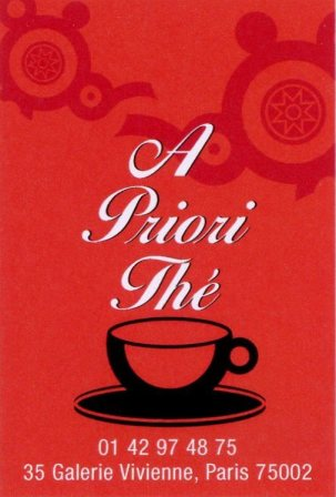 A Priori Thé - Carte